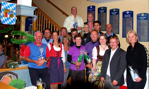 Sieger und Platzierte des Oktoberfestturniers 2013