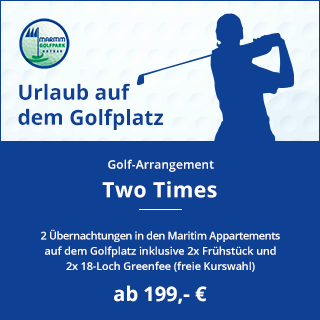 Banner Golf-Arrangement Two Times ab 199,- €