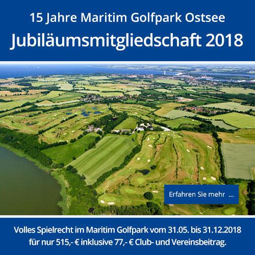 15 Jahre Maritim Golfpark: Jubiläumsmitgliedschaft 2018