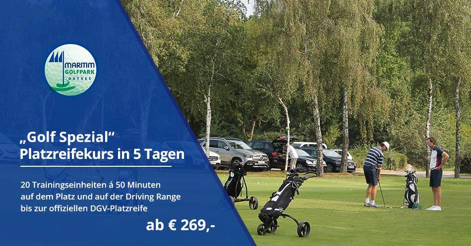 "Banner Platzreifekurs ""Golf Spezial"""