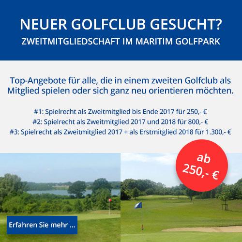 Golf-Angebot Zweitmitgliedschaft im Maritim Golfpark Ostsee