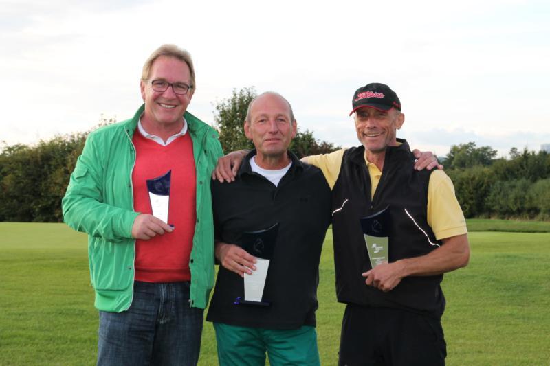 Holger Freiberg (3. Platz), Peter Springer (Clubmeister 2014), Kalle Weiß (2. Platz)