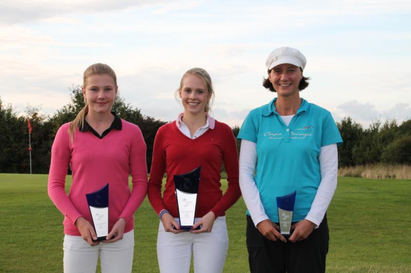Emily Strunck (2. Platz), Antonia Bremeyer (Clubmeisterin 2014), Anja Frömling (3. Platz)