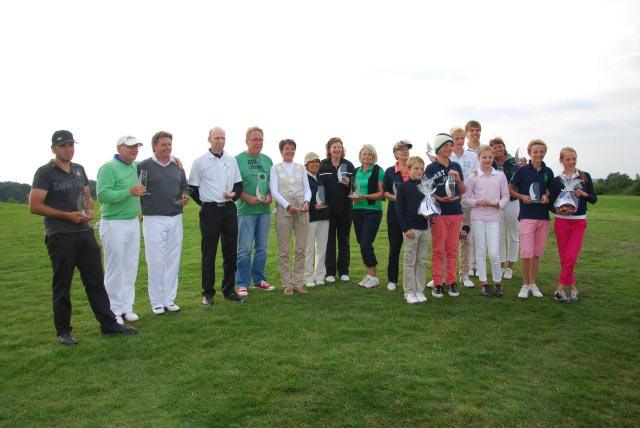 Clubmeisterschaften 2012 - Sieger und Platzierte