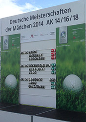 Leaderboard Deutsche Meisterschaften der Mädchen 2014