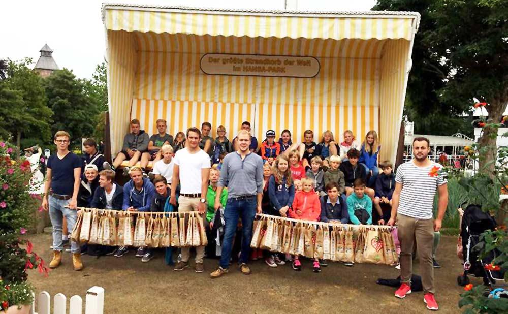 Golf Sommer Camp 2015 - Gruppenfoto im Hansa-Park