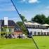 Geteilte Aussenansicht Golfpark Sekretariat Und Restaurant TeeTime