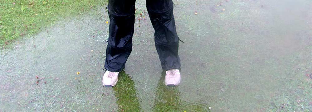 Golfplatz unter Wasser