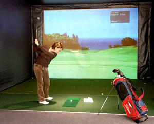 Golfsimulator im Mulligan´s Bistro