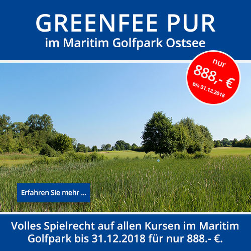 Aktionsangebot Greenfee pur für 888,- €
