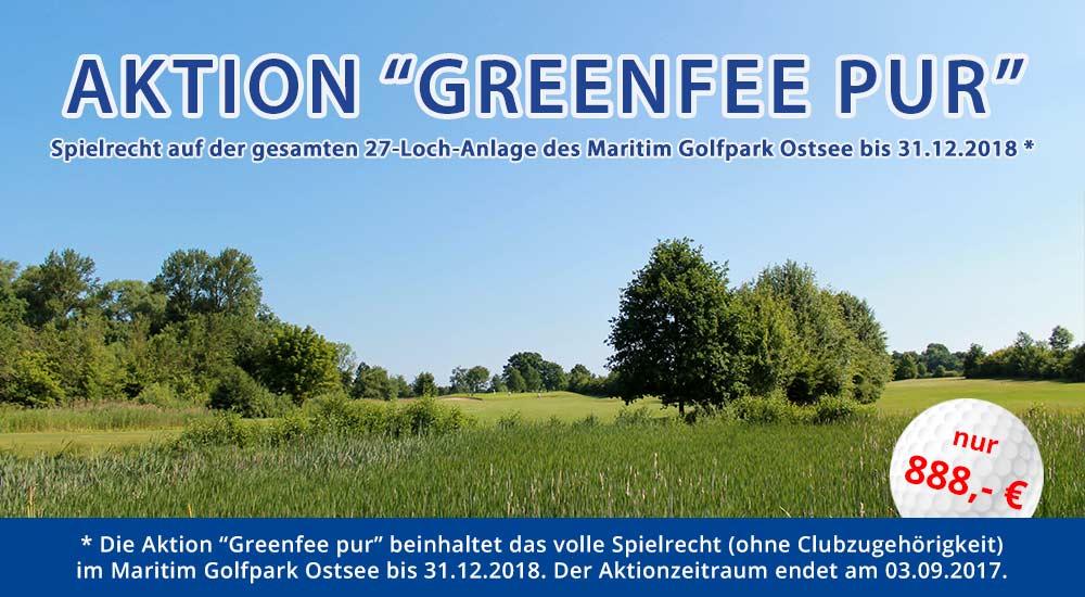 Aktionsangebot Greenfee pur für 888,- €
