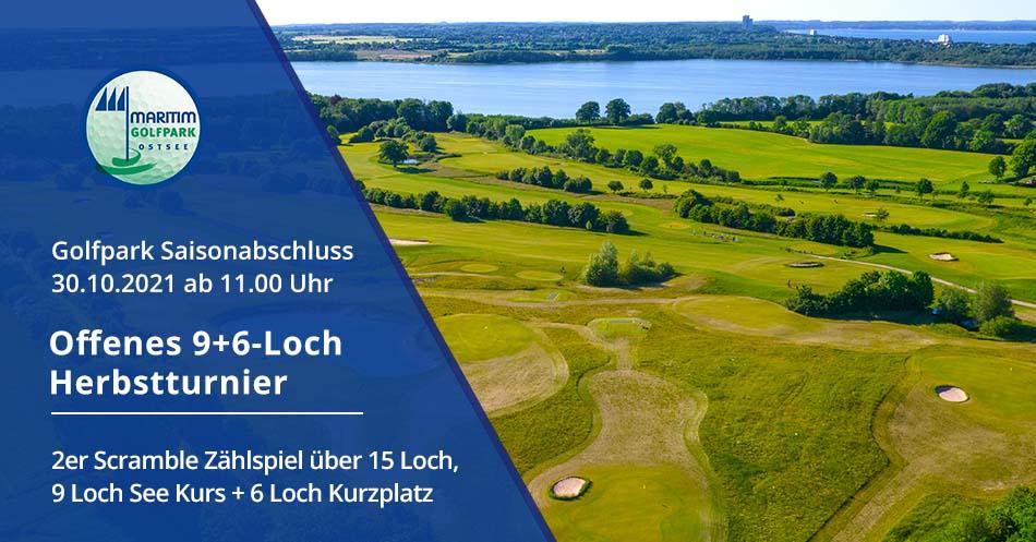 Ankündigung 15-Loch Herbstturnier - Luftaufnahme 6-Loch-Kurzplatz / See Kurs / Hemmelsdorfer See