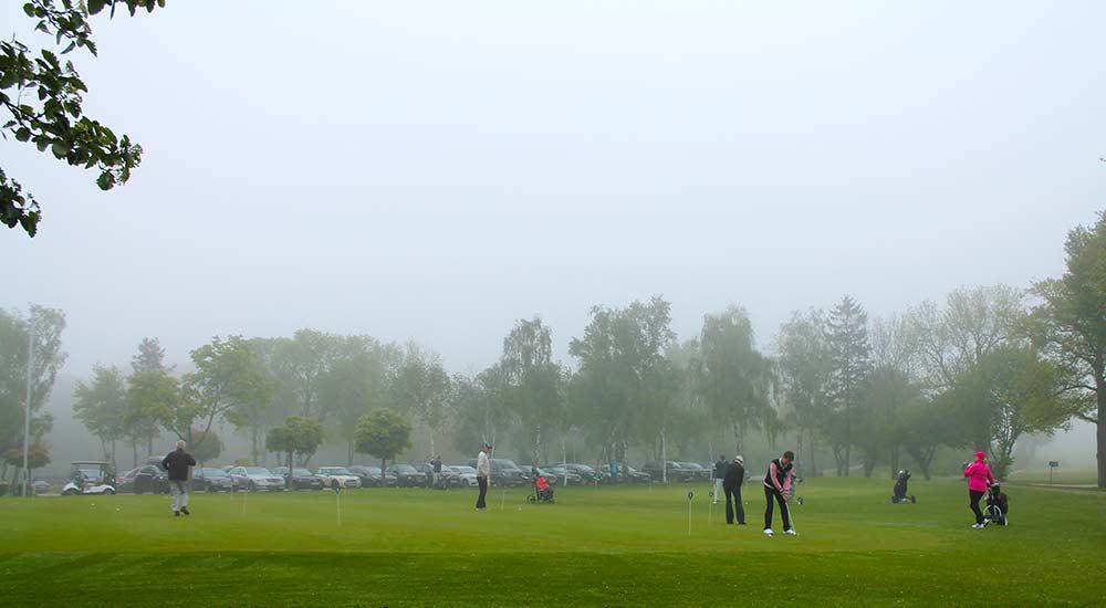 Jugend-Fördercup 2019 - Nebel über dem Putting-Grün