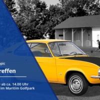Ankündigung Für Das Opel Manta Treffen Auf Der Driving Range Im Golfpark