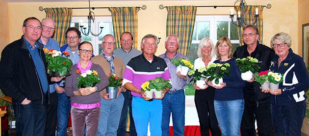 Sieger und Platzierte des 3er Scramble zu Saisoneröffnung 2014