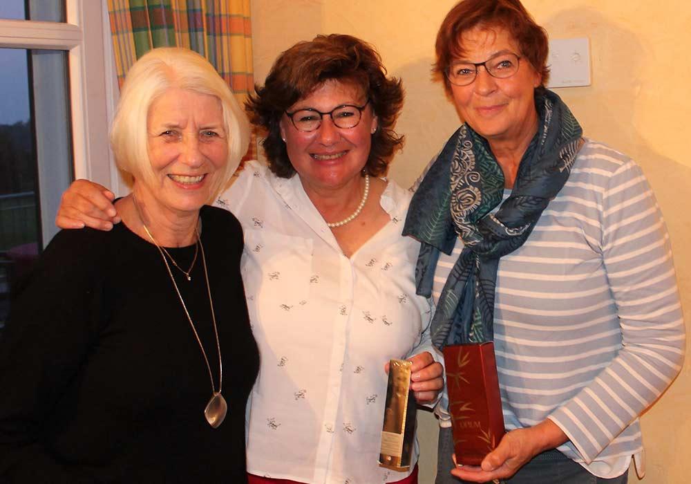Gewinnerinnen des Saison-Abschluss-Turniers 2017 der Warnsdorfer Seerosen