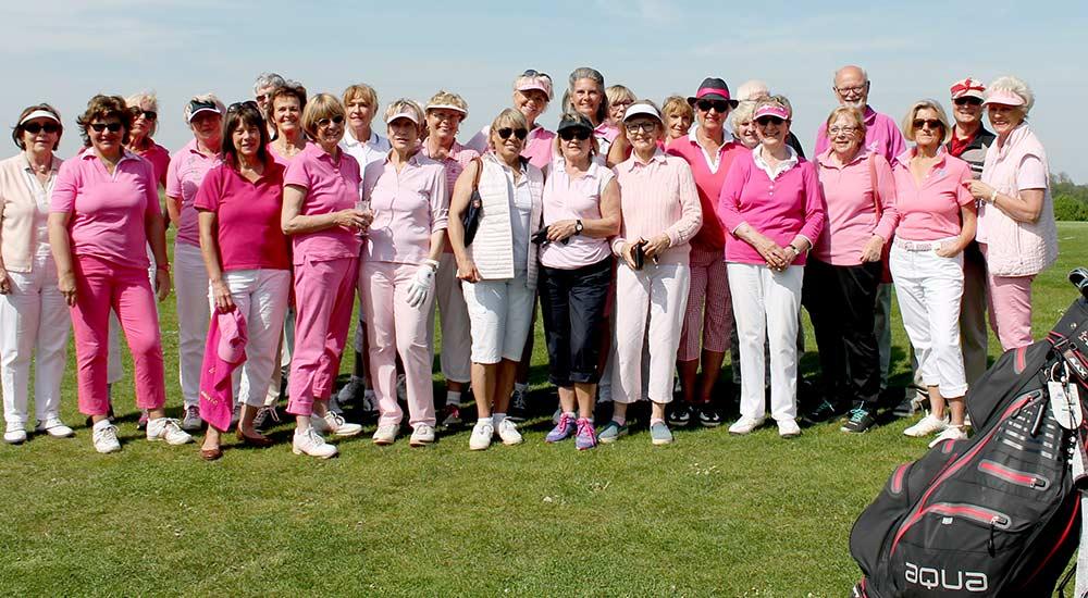 TurnierteilnehmerInnen beim Pink Ribbon Damentag 2017
