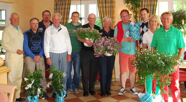 Sieger und Plazierte des Greenkeeper-Turniers 2013 mit Greenkeepern