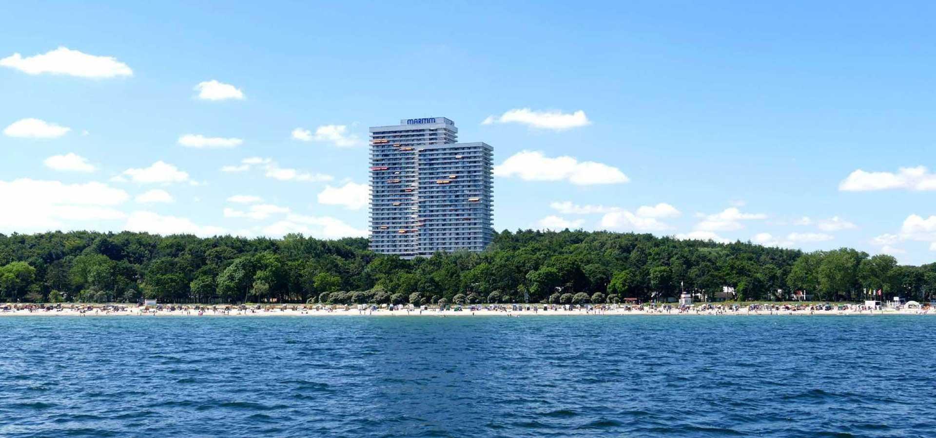Maritim ClubHotel - Aussenansicht von der Seeseite