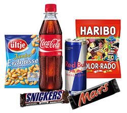 Snacks & Getränke für die Runde