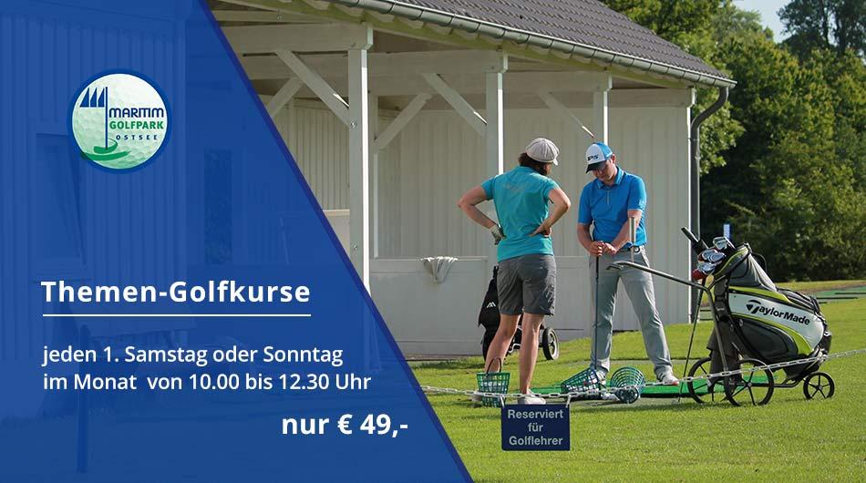 Banner Themen-Golfkurse für fortgeschrittene Golfer/innen