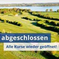 Luftaufnahme See Kurs Mit Text Umbau Abgeschlossen - Alle Kurse Wieder Geöffnet.