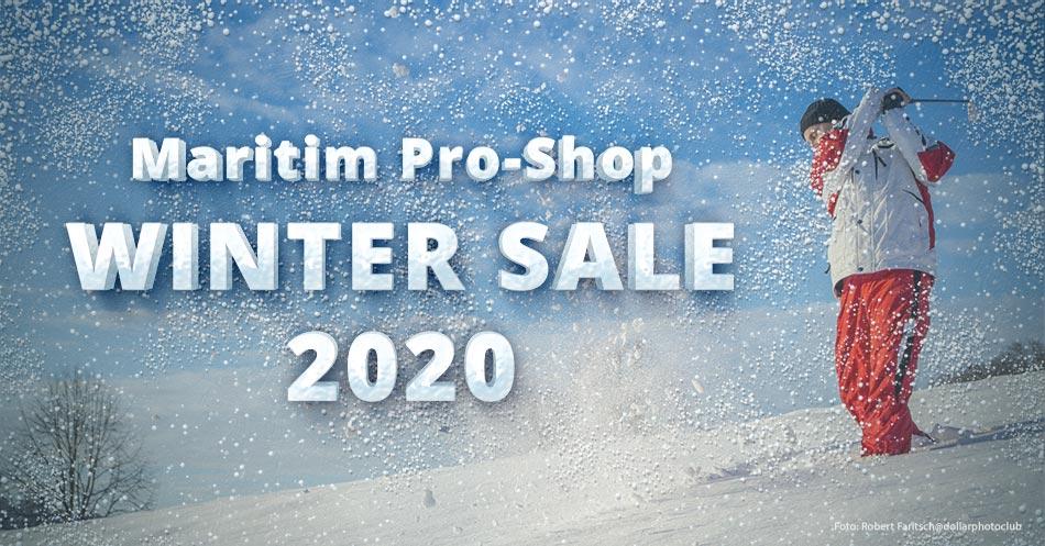 Banner Winter Sale 2020 im Maritim Pro-Shop
