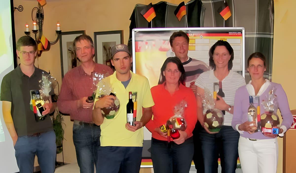 Sieger des 1. WM-Golf-Turniers 2010